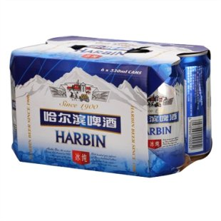 哈尔滨 冰纯啤酒330ml*6/罐