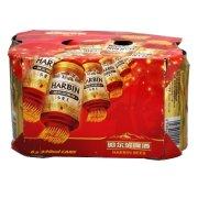 哈尔滨 小麦王啤酒 330ML*6联罐