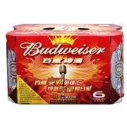 百威 啤酒330ml*6/罐