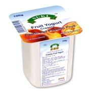 多美鲜 全脂果粒酸奶-桃果粒+西番莲汁 100g/盒(德国)