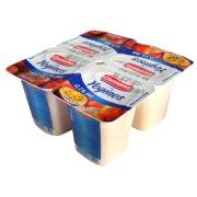 爱尔曼 0.1%低脂常温草莓酸奶+低脂桃子热情果酸奶 4*100g/盒