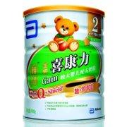 雅培 金装喜康力智护100较大婴儿配方奶粉(2段)900g/罐