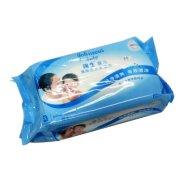 强生婴儿口手湿巾(开心食刻)80片-原清爽洁肤柔湿巾80片经济装